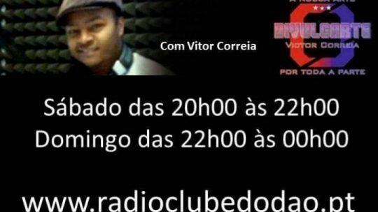 DIVULGARTE NA RÁDIO CLUBE DO DÃO COM O VITOR CORREIA