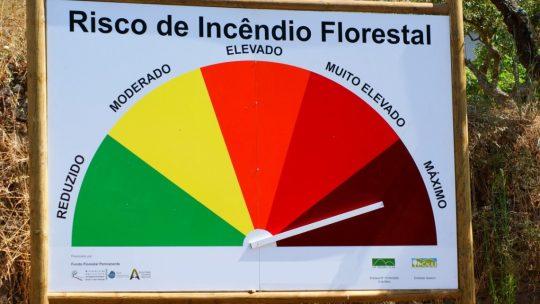AVISO PROCIV –  Risco extremo de incendio rural